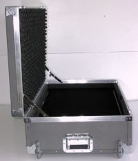 "32"" x 20"" DuraLight case with 5"" deep accessory compartment, tilt wheels and 2 key-lock recessed latches."