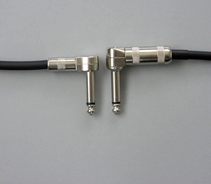 "Pedal Cable   1//4/"" Nickel Low profile angle to 1//4/"" straight 36/"" Combo Patch"